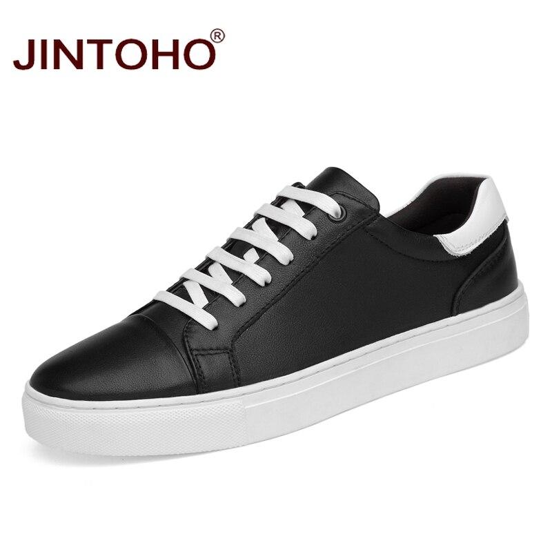 JINTOHO Fashion Man Genuine Leather Shoes Male Leather Shoes Brand Fashion Casual Shoes Leather Moccasins 2018
