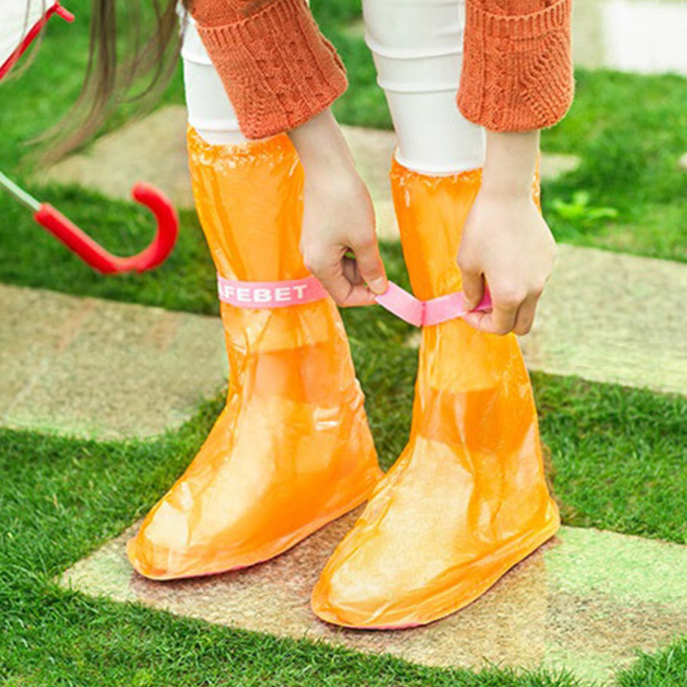 1pair Waterproof Shoe protector with High Top and Anti Slip Sole Made of PVC Material for Unisex to Keep Your Shoes Dry and Clean 2