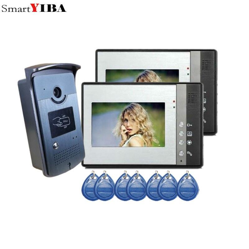 SmartYIBA 7 Video Door Phone Intercom System 2 Monitors + RFID Access Night vision Doorbell CameraSmartYIBA 7 Video Door Phone Intercom System 2 Monitors + RFID Access Night vision Doorbell Camera