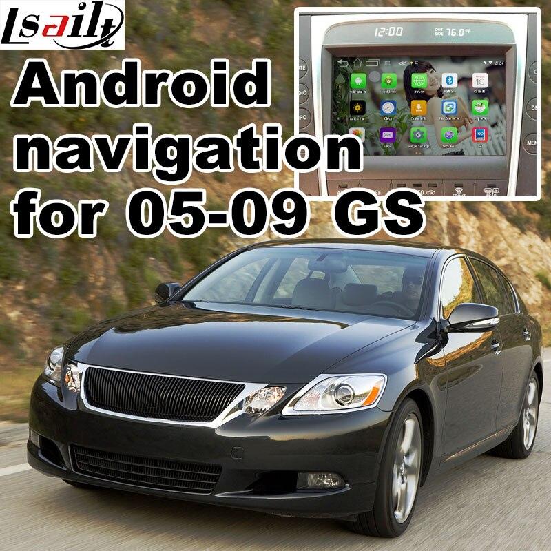 Android 6,0 GPS навигации коробка для Lexus GS450h GS300 2005-2009 видео интерфейс коробка с GVIF Carplay quad core waze GS300 GS430