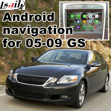 Android 6 0 GPS navigation box for Lexus GS450h GS300 2005 2009 video interface box with