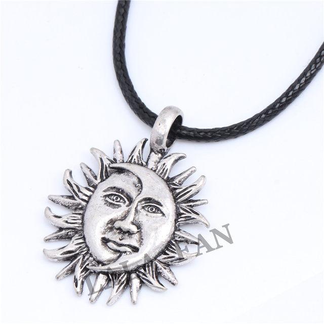Online shop antique silver sun moon face pendant necklace xl169 antique silver sun moon face pendant necklace xl169 mozeypictures Choice Image