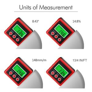 Image 5 - Inclinómetro Digital de precisión roja, caja de nivel a prueba de agua, buscador de ángulo Digital, caja cónica con Base magnética