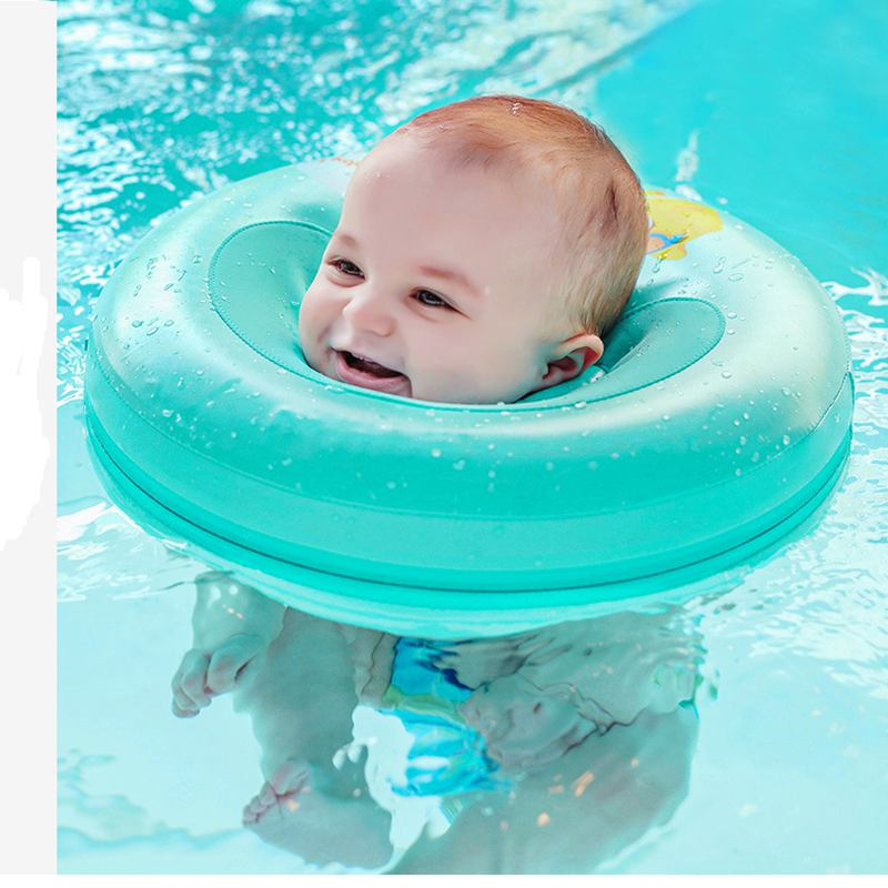 Cute Cartoon Baby Swim Pool Accessories Neck Ring Tube Safety Infant Float Circle Bath Inflatable Neck Float For Baby Swimmin