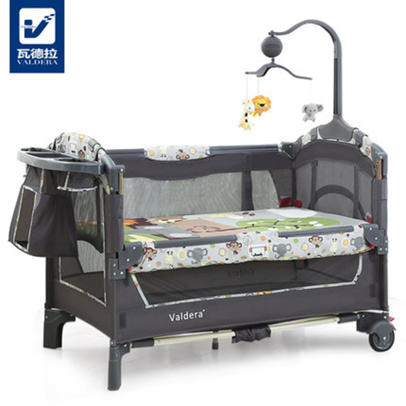 Multi-function Folding Fashion Crib European Portable Game Bed BB Bed Can Be Docked With The Bed