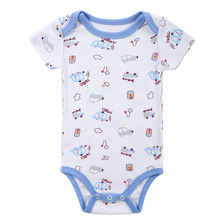 Baby Rompers Clothing 2017 Fashion Summer Newborn Baby Boy Gril One-Pieces Baby Set barboteuse Clothes Nightwear Infant pajama(China)