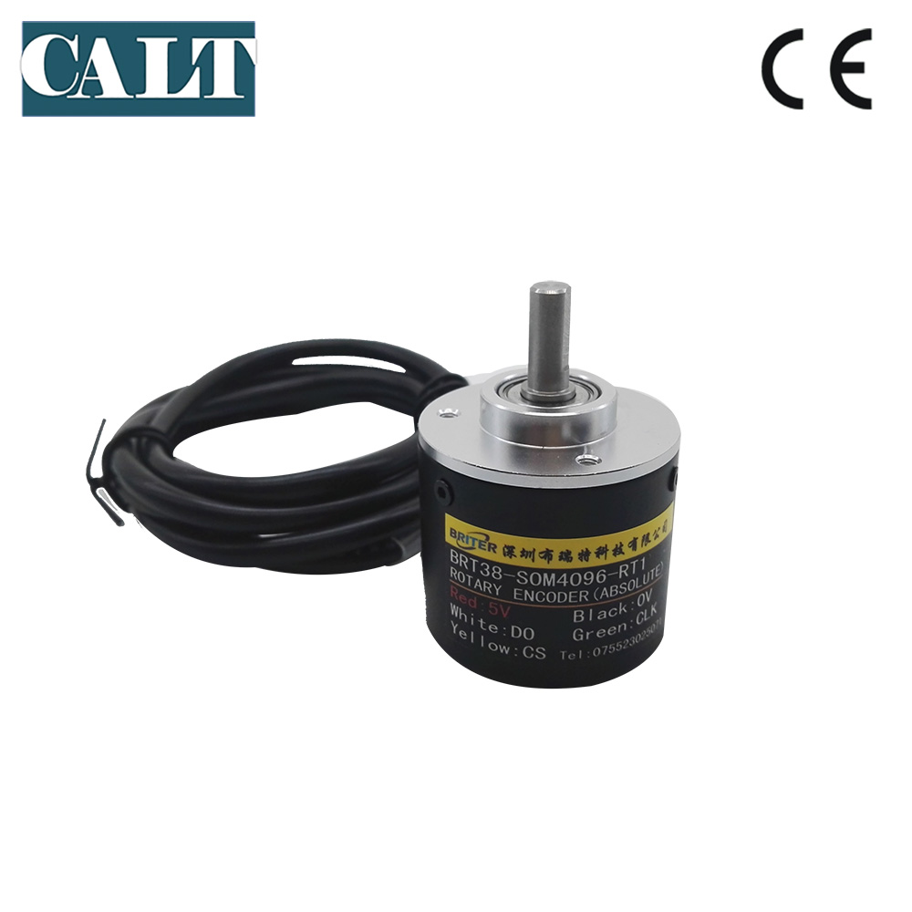 BRT38 SOM absolute rotary encoder 6mm shaft Contactless 4096 1024ppr 10bit 12bit SSI interface single ture