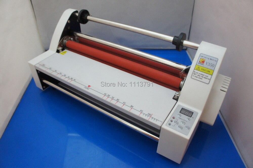 Digital Display Film Roller Laminator Laminating Machine V350+4xLaminating Films