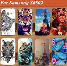 Free Shipping Case For Samsung Galaxy Ace Duos S6802 GT-S6802 6802 3D Printing Case Transparent PC Hard Phone Cover Case