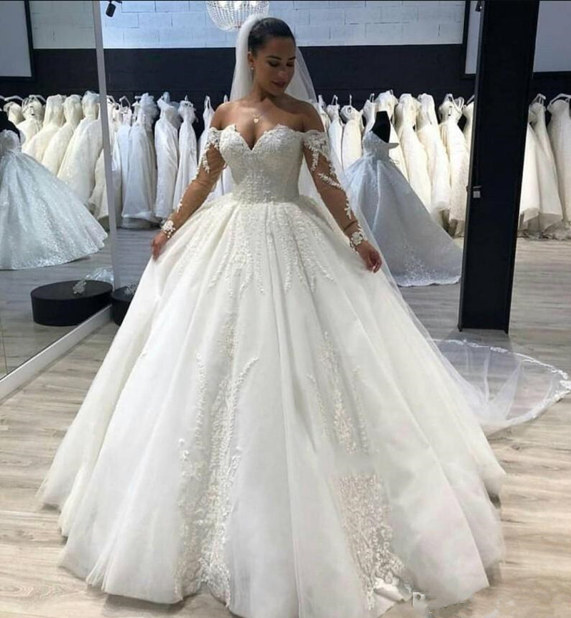 Vintage Plus Size Wedding Dresses Off The Shoulder