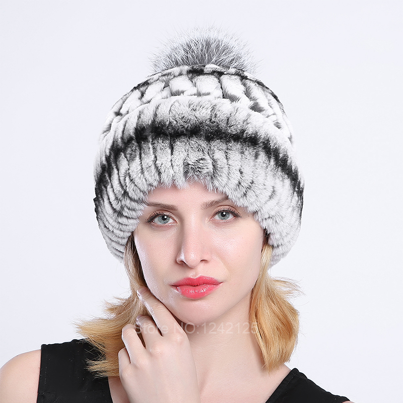 New Russia fur hat women Parent-child kids children boy girl real rex rabbit fur hat warm knitting hat elastic knitted hats caps the new children s cubs hat qiu dong with cartoon animals knitting wool cap and pile