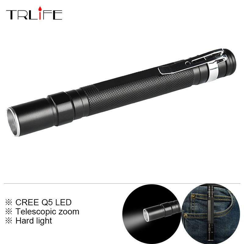 Portable Mini CREE Q5 3000LM Telescopic Zoom LED Fls