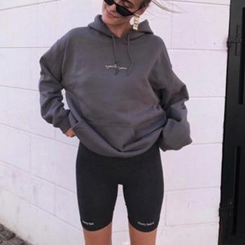 Short paragraph Letter printed Leggings For Women High Waist Black Fashion SweatPants Push Up Fitness Leggings casual pants 2