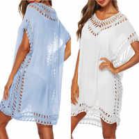 Bkning Azul Kaftan Beach Dress Mulheres Cover-Ups 2019 Preto do Verão Swimsuit Cover Up Com Decote Em V Vestidos de Festa de Praia Pareo desgaste 9 Cor