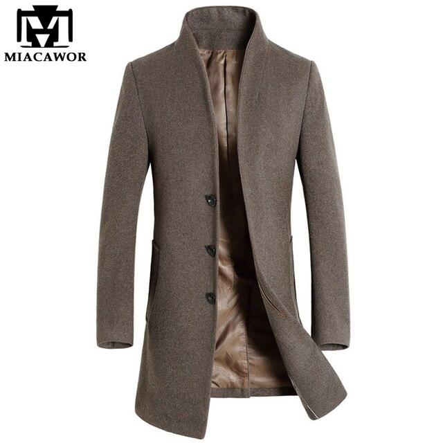 2017 Новый Зима Мужчины Шерсти Пальто Мужчины Длинную Траншею Slim Fit Пальто Высокого Качества для Мужчин, Пальто Мода Траншеи Верхняя Одежда MJ340