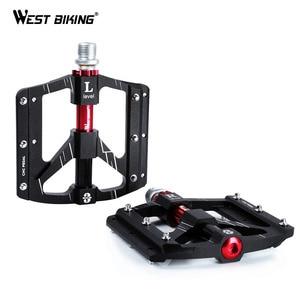 Image 1 - WEST BIKING 3 베어링 자전거 페달 초경량 Anti slip CNC 도로 MTB 자전거 페달 사이클링 밀폐형 베어링 자전거 페달