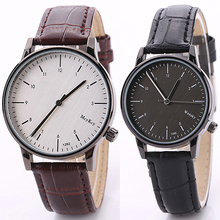 Men's Women's Vintage Faux Leather Band Analog Quartz Movement Wrist Watch