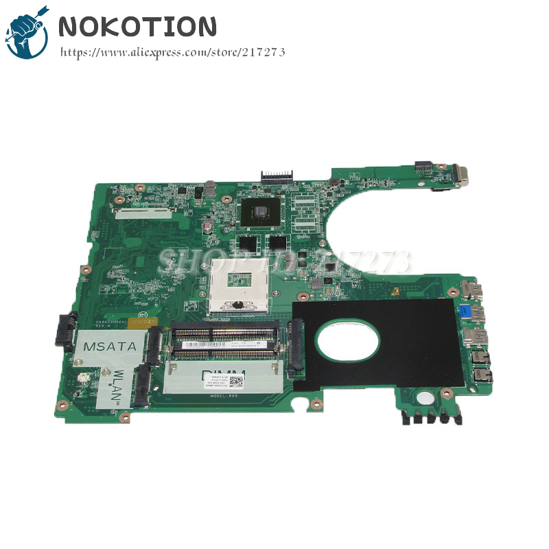NOKOTION DA0R09MB6H1 CN-01040N 01040N 1040N Laptop Motherboard For Dell  Inspiron 15R 5720 Main Board GT630M DDR3 new bottom base box for dell inspiron 15 5000 5564 5565 5567 base cn t7j6n t7j6n