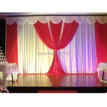 wedding backdrop stage curtain Backdrop for Wedding Decoration 10ft*20ft wholesale Stage background Color can be customized
