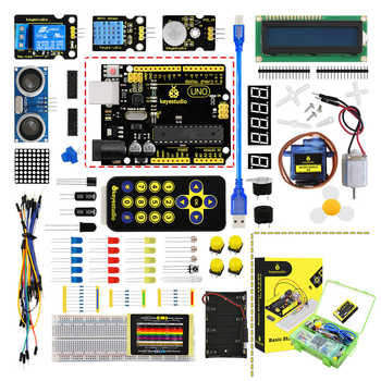 2019 NEW! Updated Version Keyestudio Basic Starter Kit V2.0 (UNOR3 Board ) W/Gift Box for Arduino Kit+PDF(online) - DISCOUNT ITEM  10 OFF Electronic Components & Supplies