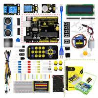2019 NOVO! Versão atualizada keyestudio basic starter kit v2.0 (placa unor3) com caixa de presente para arduino kit + pdf (online)
