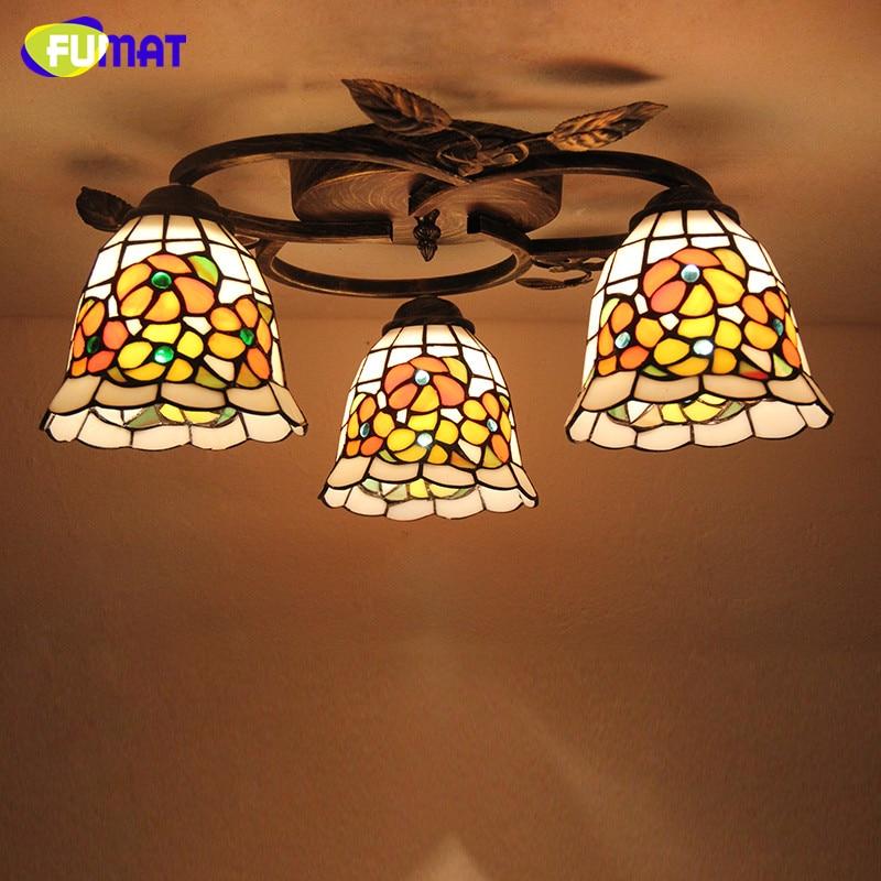 FUMAT Glaskunstlamp Europese stijl Creatief Rond Dragonfly Rose - Binnenverlichting