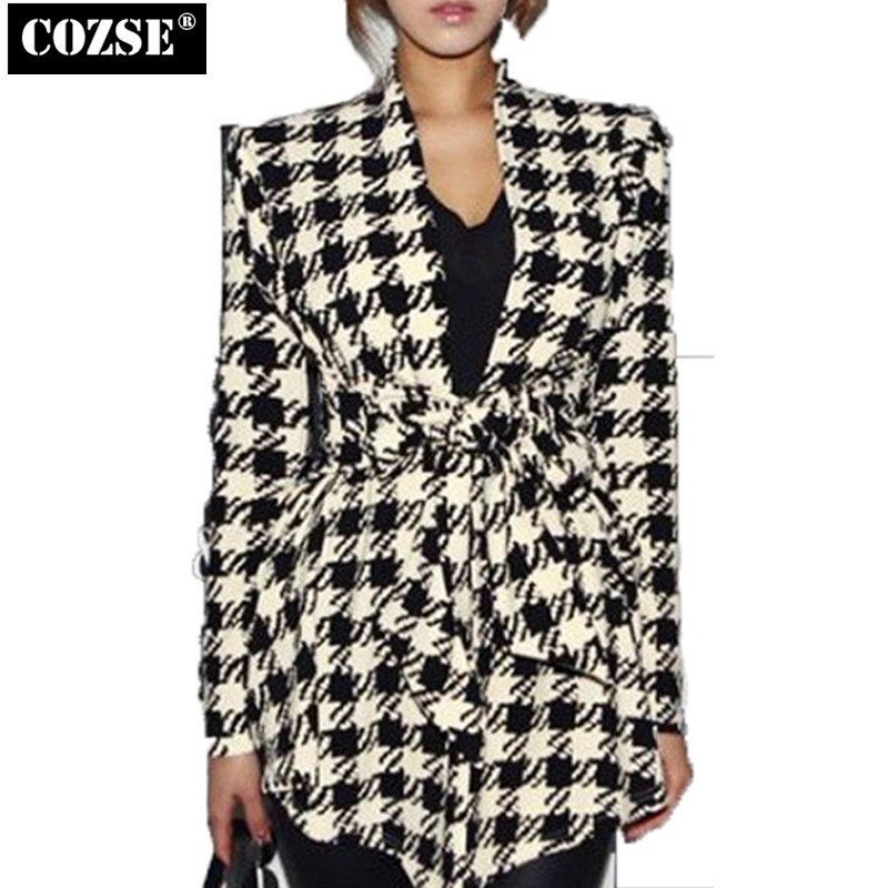 2015 Korean Autumn Slim Show Thin Plover Case Women Coat Joker Temperament H8214