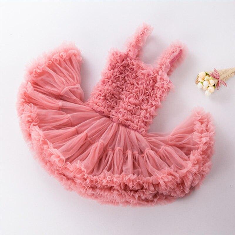 Jolie robe sans manches bébé fille 9 couleurs mode infantile princesse fête de noël Tutu robe pour enfants vêtements Costume - 6