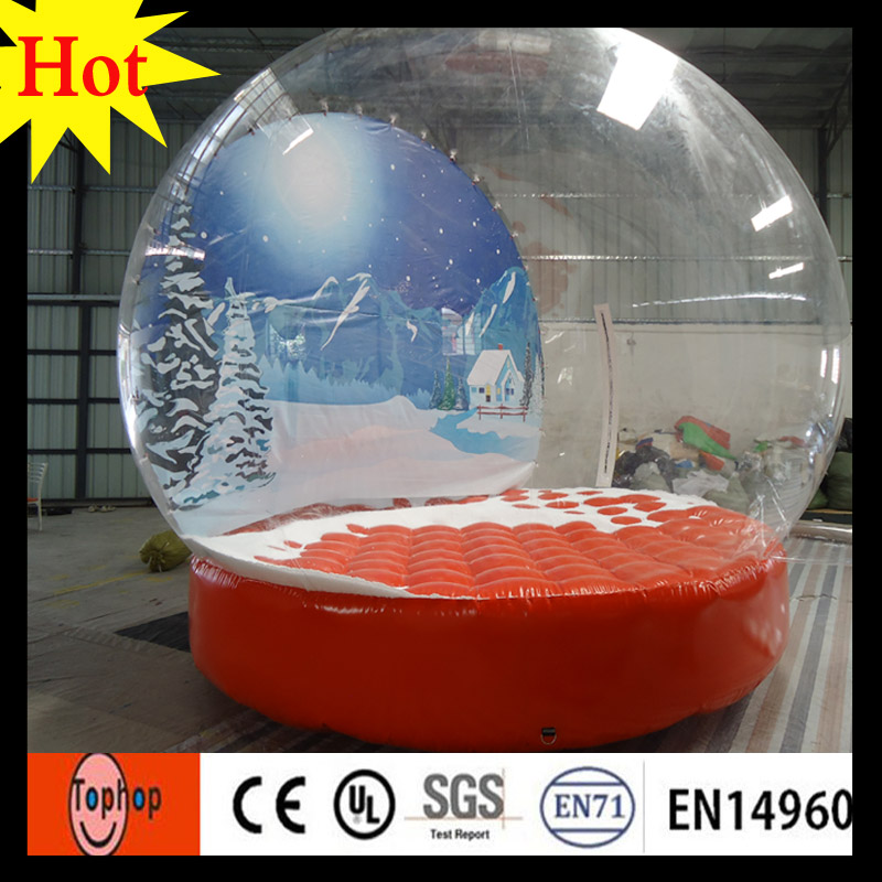 empty inflatable human size snow globe large outdoor christmas decorations dia 4m christmas event advertising show toys in inflatable bouncers from toys - Large Christmas Snow Globes