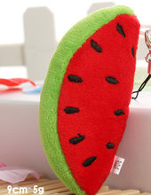 1Piece Super Kawaii Mini 6CM Watermelon DOLL Keychain DOLL Plush Stuffed TOY Phone Strap Charm TOY DOLL Wedding Bouquet TOY DOLL(China)