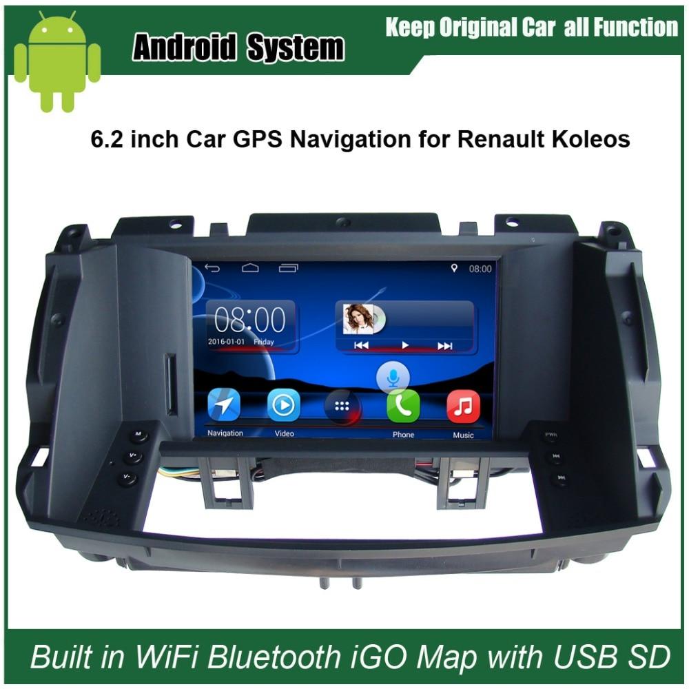 Navigacion GPS me makinë 2,2 inç Android Renault Koleos 2009-2014 - Elektronikë e makinave