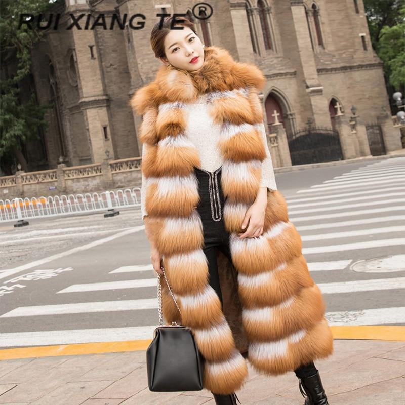 Бесплатная доставка, женский жилет из натурального меха, популярное меховое пальто с красной лисой, длинный меховой жилет, роскошный мехово