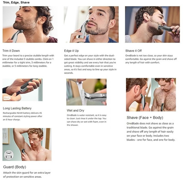 one blade Men beard trimmer body grooming head trimming stubble electric trimmer face shaping tool hair cutting machine  1
