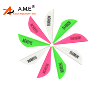 30pcs  Archery Arrow Vanes Plastic Feathers Fletches DIY Rubber Fletching Bow  For Outdoor Shooting Hunting Accessories 50pcs archery 2inch rubber feather arrow feathers drop shape fletches for outdoor bow and arrows hunting shooting accessories