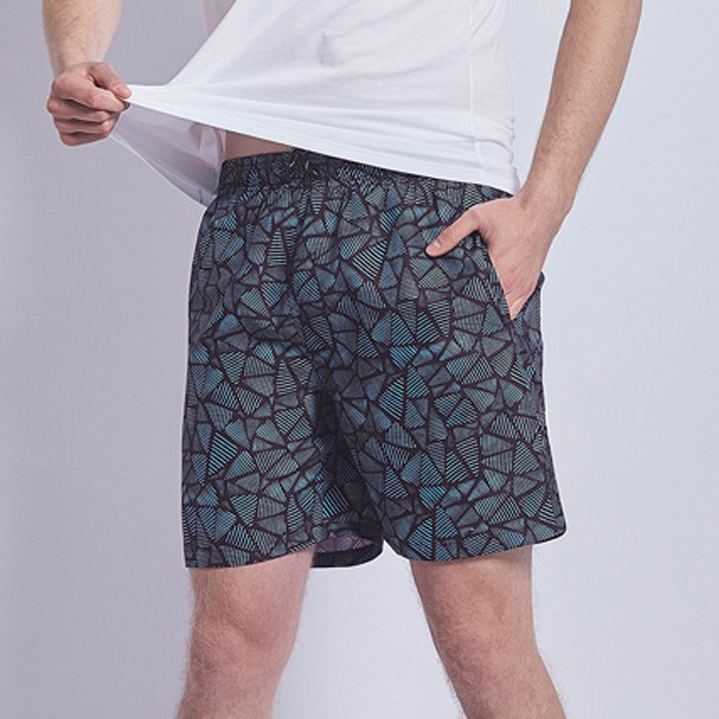 2019 New Hot Mens Stone Printing Surfing   Short   Homme Elastic Waist Quick Dry   Board     Shorts   Summer Sport Swimming Trunks