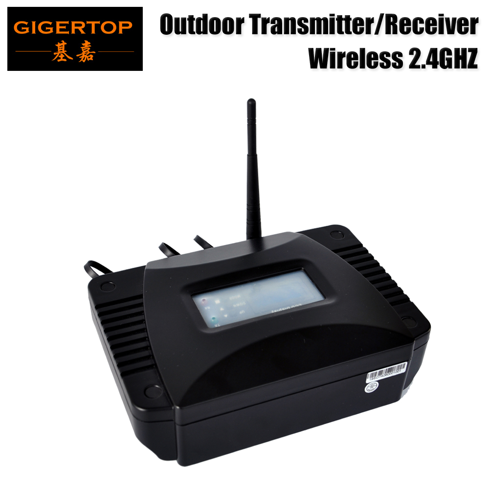 Freeshipping 2.4G Wireless Waterproof DMX 512 Transmitter/Receiver Outdoor Using Helical SMA Antenna Plastic