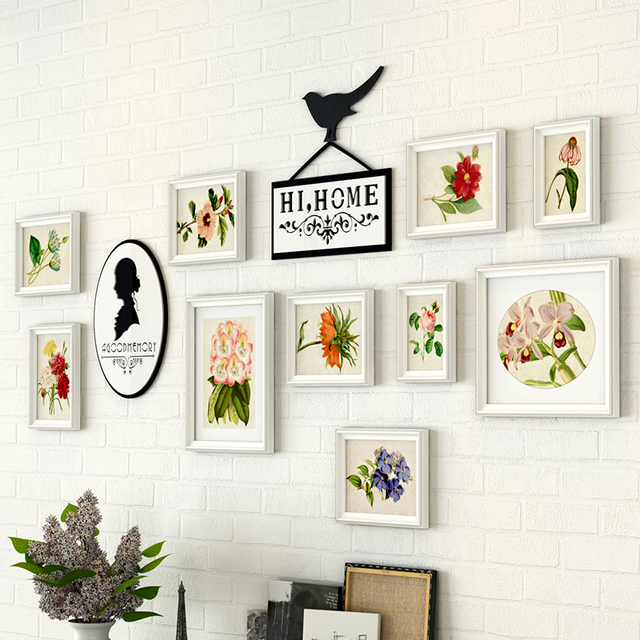 10PCS/SET European Style White Photo Frames On The Wall, Wedding ...
