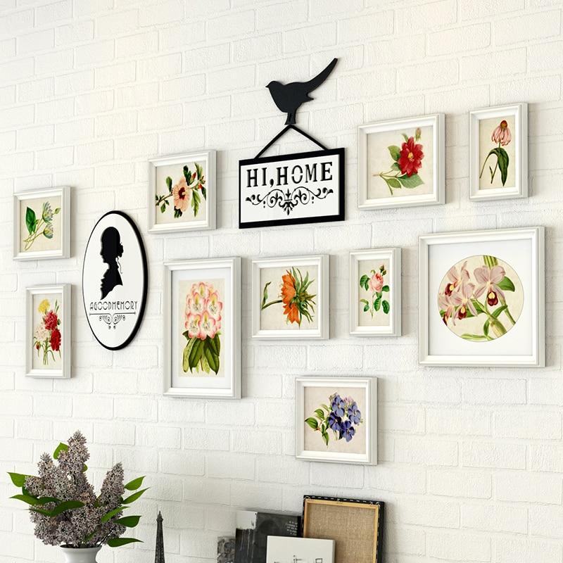 10PCS/SET European Style White Photo Frames On The Wall, Wedding Photo Frames, Easy Installation Picture Wooden Frame Set