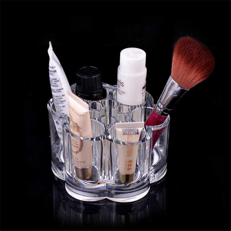 Pruim Bloem Clear Shaped Cosmetische Lippenstift Borstel Desktop Opbergdoos Hot Selling Cosmetische Make-up Organizer Case