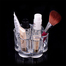 Plum Flower Clear Shaped Cosmetic Lipstick Brush Holder Desktop Storage Box Hot Selling Cosmetic Makeup Organizer Case(China)