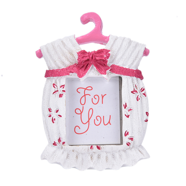Resin Baby Clothes Pattern Baby Photo Frame Small Pink Blue Picture ...