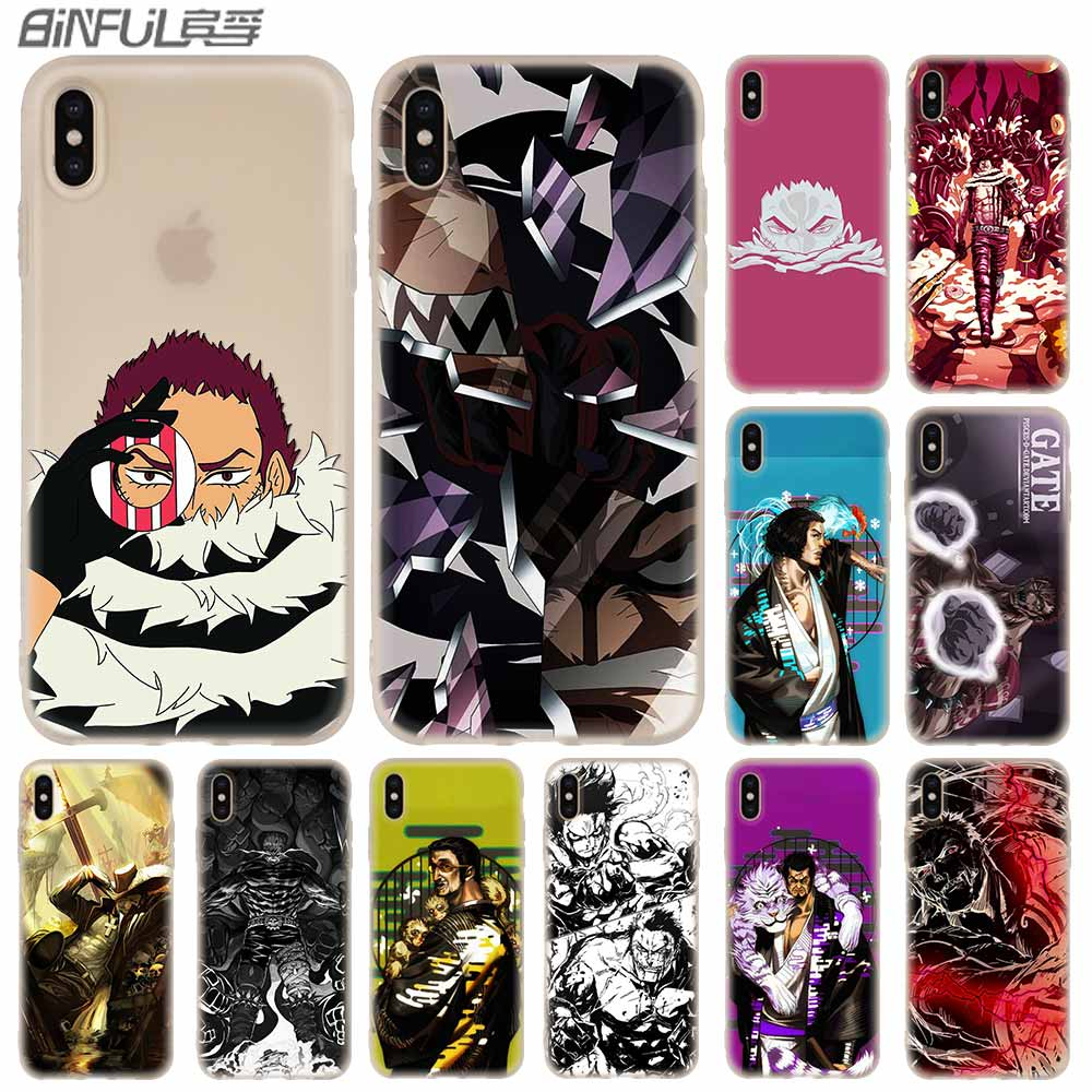 Phone Case soft Cover for iPhone 11 Pro X XS Max XR 6 6S 7 8 Plus 5 4S SE <font><b>One</b></font> <font><b>Piece</b></font> <font><b>Katakuri</b></font> Bag Funda coque etui bumper paiting image