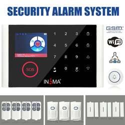 9 lingue Senza Fili di Sicurezza Domestica di WIFI GSM GPRS Sistema di Allarme Kit Sensore di Campanello APP di Controllo PIR del Rivelatore Antifurto di Sicurezza UE