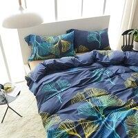 Xanh Duvet Cover Set 100% Cotton Ai Cập Bedding Sets Twin nữ hoàng Vua Kích Thước Ánh Sáng Tan Khăn Trải Giường Màu Rắn Gối trường hợp