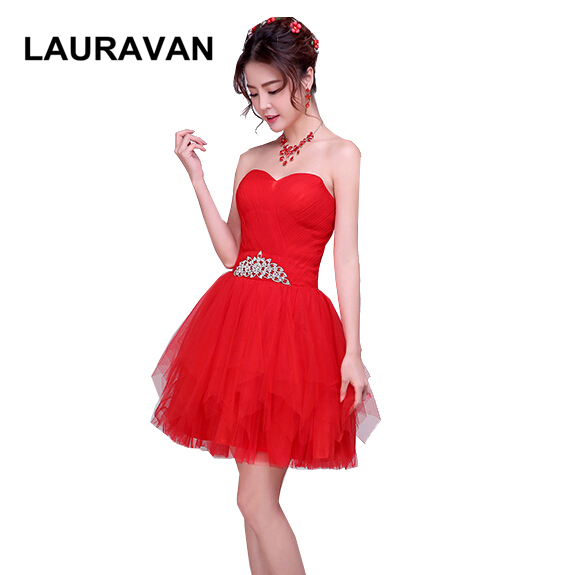 robe de soire beautiful pretty formal red lace sweatheart applique elegance tulle   bridesmaid     dress   ball gown   dresses