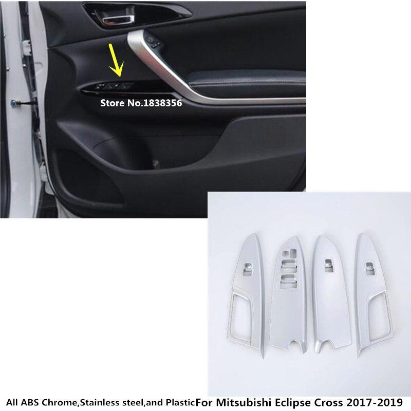 Carbon Fiber Inner Window Switch Panel Trim For Mitsubishi Eclipse Cross 2018