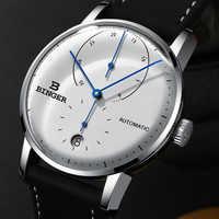 Switzerland BINGER Men's Watches Luxury Brand Automatic Mechanical Men Watch Sapphire Male Japan Movement reloj hombre B1187-0