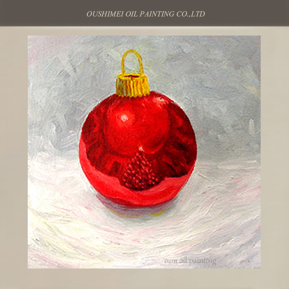 Hand Painted Christmas Oil Paintings Home Decoration Bedroom Wall Pictures on Canvas Christmas Ball Gifts for Children