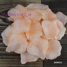 1000 шт тангрин цвет шелковые лепестки роз для свадебной вечеринки Конфетти Для украшения стола украшения