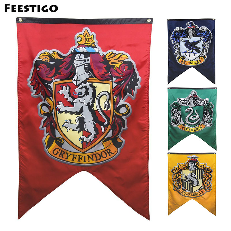 Feestigo 75*125 cm Harry Potter Gryffondor Maison Mur Bannière Hollywood Party Drapeau Bannière Halloween Décorations pour La Maison Fournitures 1 PCS